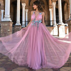 Womens Wedding Formal Bridesmaid Slim Fit Evening Party Cocktail Prom Gown Dress