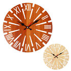 Fashion Retro Wooden Round Wall Clock Windmill Shaped Ornaments Battery Operated