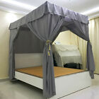 4 Corners Post Bed Curtain Canopy Netting Frame/Post Twin Full Queen King image