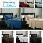 Queen King Deep Pocket Bed Sheets Set Fitted Flat 1800 Count Egyptian Comfort H5 image
