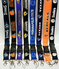 Football Lanyard Keychain   Badge Holder ~NFL Team Colors ~ All teams~ 2 PACK