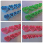3MM-25MM EAR TUNNEL HEART SHAPED PLUG STRETCHER SADDLE ACRYLIC PINK GREEN BLUE