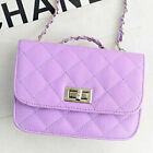 Women's Small Crossbody Quilted Purse Bag Handbag with Chain Shoulder Strap