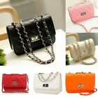 Womens Small Crossbody Quilted Purse Bag Handbag with Chain Shoulder Strap