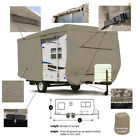 Seamander RV Cover Travel Trailer, 4-Ply Top Panel,Color Beige