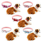Real Leather Adjustable Pet Puppy Dog Collars w/ D Ring for Lead Safety