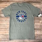 Mens NHL Hockey New York Rangers Logo Grey Basic T-shirt Size S, M, L, XL, XXL $7.99 USD on eBay