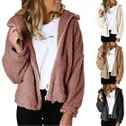 US Dokotoo Womens Fuzzy Open Front Hooded Cardigan Jacket Coat Outwear Pocket