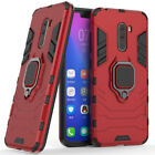 For Xiaomi Pocophone F1 Shockproof Armor Case Ring Stand Hybrid Rugged TPU Cover