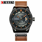 CURREN Mens Business Watches PU Leather Analog Waterproof Quartz Wristwatch 8301 image