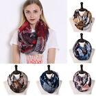 Women Ladies Retro Scarves Long Female Fashion Printed Thin Chequered Scarves