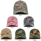 Small American Flag Embroidered Patch Camo Soft Cotton Baseball Cap - FREE SHIP