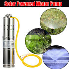 12V/24V Solar Powered Water Pump Farm Submersible Bore Hole Permanent Magnet