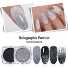BORN PRETTY Holographic Nail Glitter Powder Laser Nail Art Chrome Pigment Tips