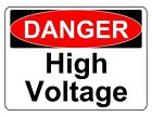 DANGER HIGH VOLTAGE OSHA DECAL SAFETY SIGN STICKER 3M USA MADE