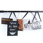 Halloween Party The Witch Is In Vintage Wooden Plaque Wall Sign Hanging Board VV