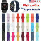 38/42/40/44mm Silicone Sports Band iWatch Strap For Appl e Watch Series 1/2/3/4 image
