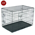 Dog Cage Pet Cage Strong Metal Wire Travel Crate Folding Dog Puppy Kit Playpen