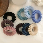 Telephone Wire Flocked Knit Hair Rope Elastic Rubber Bands Hair Ring Scrunchie