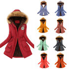 Outwear Women Winter Warm Hooded Coat Windproof Faux Fur Parka Jacket Trench