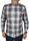 Cherokee Mens Casual Pure Cotton Long Sleeve Checked Shirt S-XL Sale!