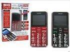 Large Digit Big Button Mobile Phone Sos Button Unlocked Perfect Gift Black / Red