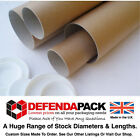 "50mm (2"") WIDE DIAMETER POSTING POSTAGE CARDBOARD POSTAL TUBES  - A4 A3 A2 A1 A0"