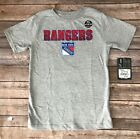 Boys Youth Kids NHL Hockey New York Rangers Grey Cotton-Dri T-shirt Size S, M $7.99 USD on eBay