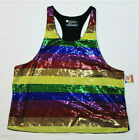 Rainbow Sequin Tank Top PRIDE Gender Inclusive - Mens Size LARGE - NEW