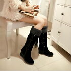 1x Fashion Women Girl Boots Suede Tassels Fringe Heel Ankle Boots Slip-on Bootie