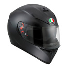 AGV K3 SV Plain Motorcycle Motorbike Full Face Helmet Mat - Black