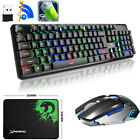 US Rechargeable Gaming Keyboard and Mouse Backlit Wireless 2.4G 4800mAh Battery