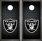 Oakland Raiders Cornhole Wrap NFL Luxury Game Board Skin Set Vinyl Decal CO104 $39.95 USD on eBay