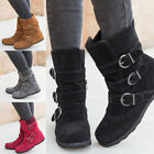 New Women's Warm Cloth Round Head Flat Low Heel Boots with Zipper Winter Shoes