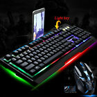 Computer Desktop Gaming Keyboard and Mouse Mechanical Feel Led Light Backlit