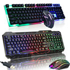 Kyпить Computer Desktop Gaming Keyboard and Mouse Mechanical Feel Led Light Backlit  на еВаy.соm