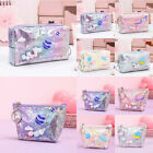 Cute Laser Leather Pencil Case Pen Box Big Makeup Bag Gifts Coin Bag For Girls
