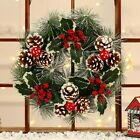 38cm Christmas Wreath Door Wall Hanging Garland Ornament Home Holiday Decoration for sale