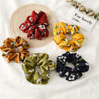 Women Spring Flower Hair Rope Hair Ties Elastic Scrunchie Ponytail Hair Rings