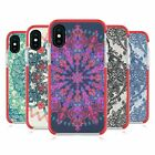 MICKLYN LE FEUVRE MANDALA 3 RED SHOCKPROOF BUMPER CASE FOR APPLE iPHONE PHONES