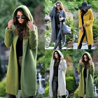 Womens Baggy Hood Cardigan Coat Ladies Chunky Knitted Sweater Jumper Tops New