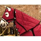High Spirit Snuggie Quilted Horse Hood 220g Fill with 5 Closures Burgundy/Black