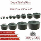 """Leather Strip Black 1/2"""" to 4"""" width, 65 inches Lenght by Sepici (Heavy Weight)"""