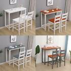 WestWood Breakfast Bar Table 2 X Stools Set Solid Pine Wood Kitchen Dining Chair