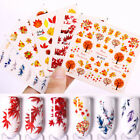 Autumn Maple Leaf Nail Water Decals Watermark Nail Art Transfer Stickers Tips