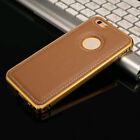 Case iPhone Ultra Thin Soft Leather Case with Metal Frame for 6 / 6 Plus