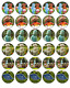 In The Night Garden 30 Edible Wafer Paper Cupcake Toppers  Cake Decorations