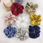 Women Pure Color Shining Satin Scrunchie Hair Rubber Band Sport Hair Tie Rope