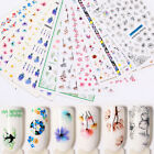Nail Water Decals Transfer Stickers Colorful Flowers Nail Art Decoration Salon