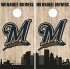 Milwaukee Brewers Cornhole Wrap MLB Game City Skyline Skin Vinyl Decal CO929 on Ebay